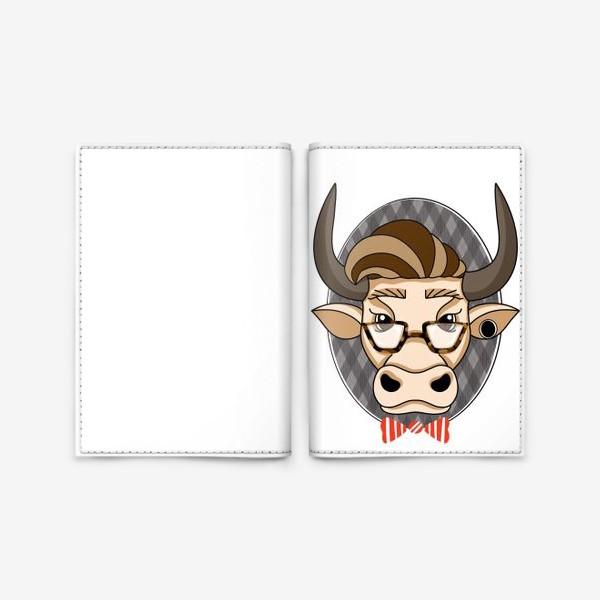 Обложка для паспорта «Год быка. Без текста.»