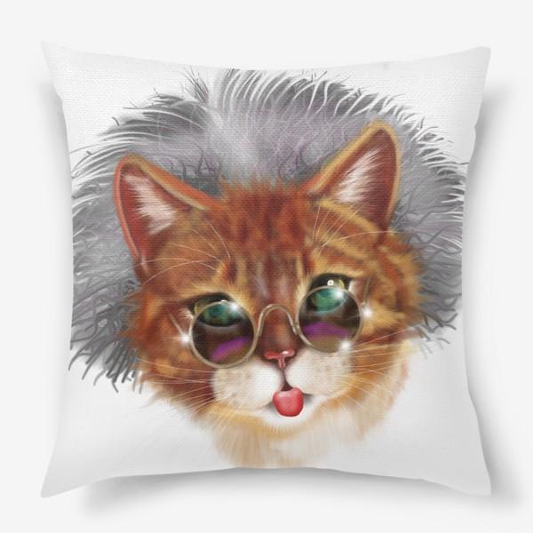 Подушка «Кот Эйнштейна »