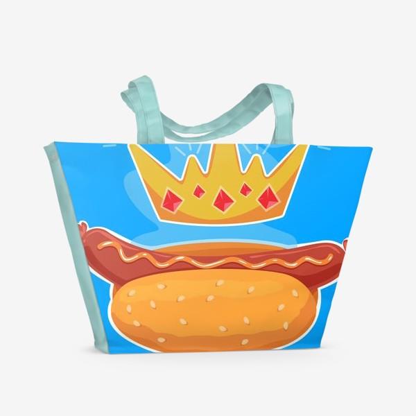 Пляжная сумка «Царский хот-дог»