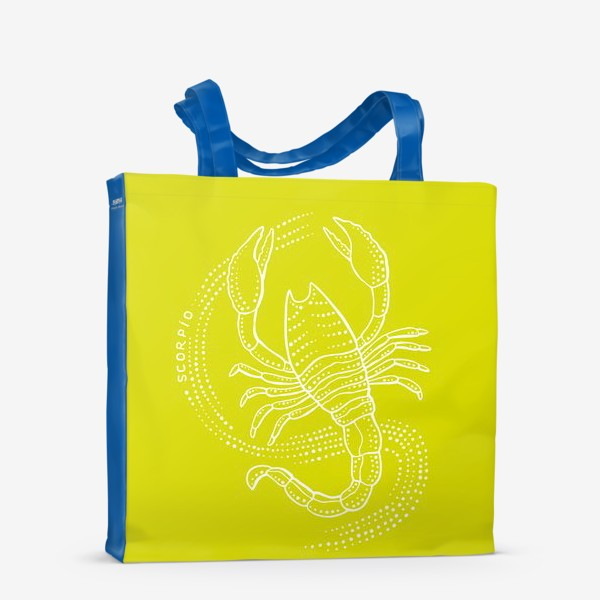 Сумка-шоппер «Скорпион. Желтый фон.»