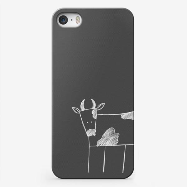 Чехол iPhone «Бык, корова»