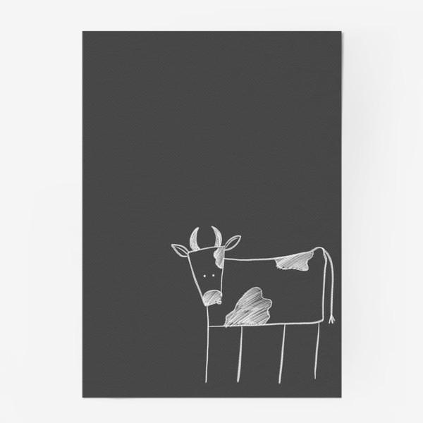 Постер «Бык, корова»