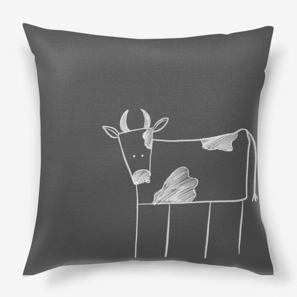 Подушка «Бык, корова»