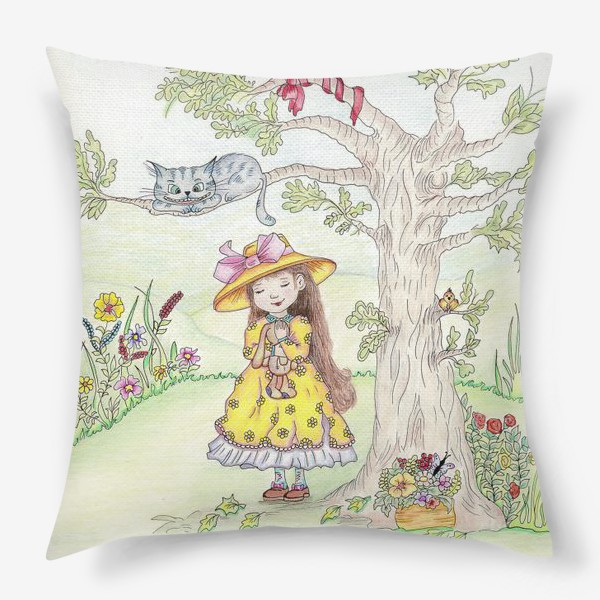 Подушка «Алиса и Чеширский кот»