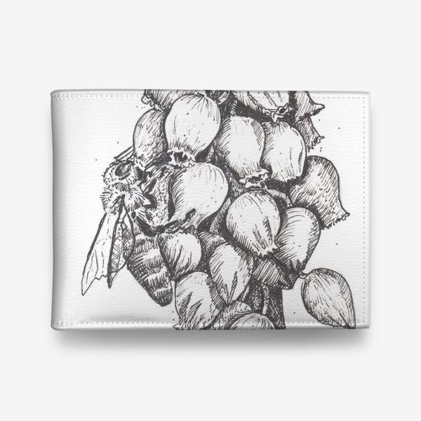Кошелек «Мускари и пчела»