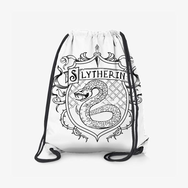 Рюкзак «Герб факультета Слизерин. Гарри Поттер. Slytherin Crest. Harry Potter»