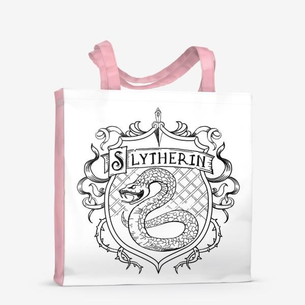Сумка-шоппер «Герб факультета Слизерин. Гарри Поттер. Slytherin Crest. Harry Potter»