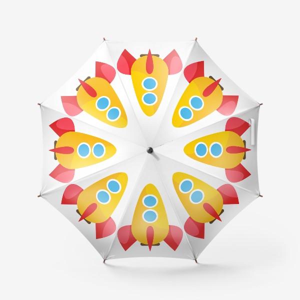 Зонт «Ракета мультяшная»