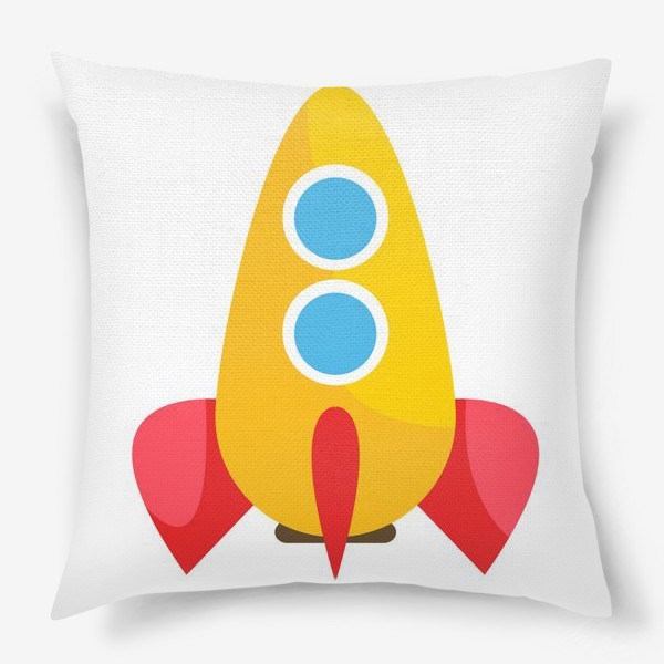 Подушка «Ракета мультяшная»