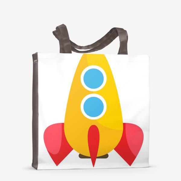 Сумка-шоппер «Ракета мультяшная»