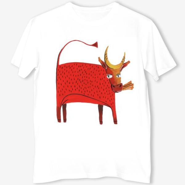 Футболка «Красная корова. Символ года.»