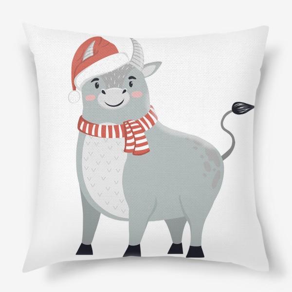 Подушка «Новогодний бык»