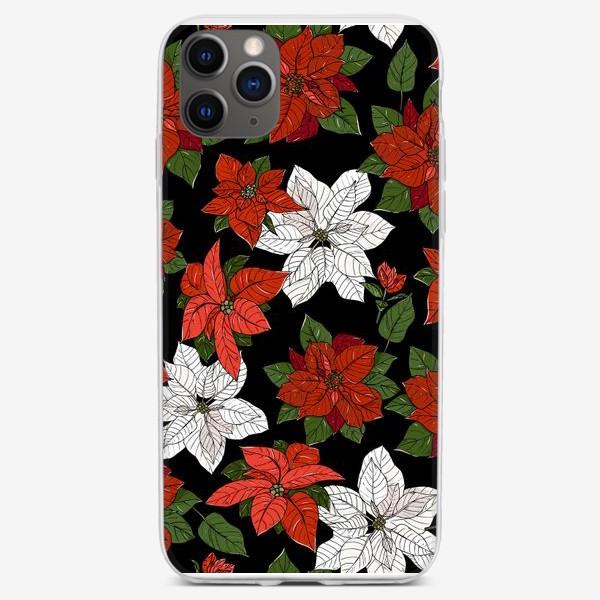 Чехол iPhone «пуансеттия рождественская»