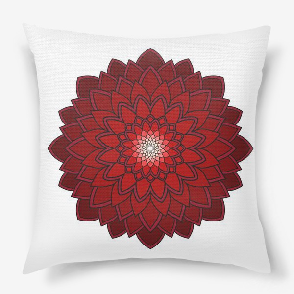 Подушка «Мандала красная астра»