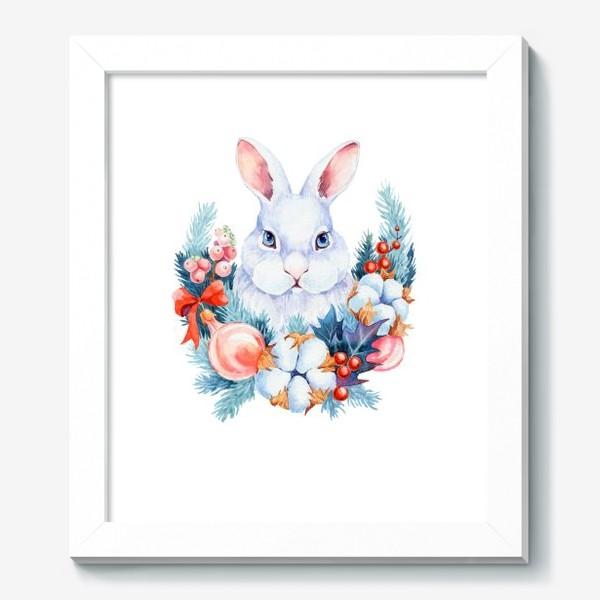 Картина «Новогодний кролик»