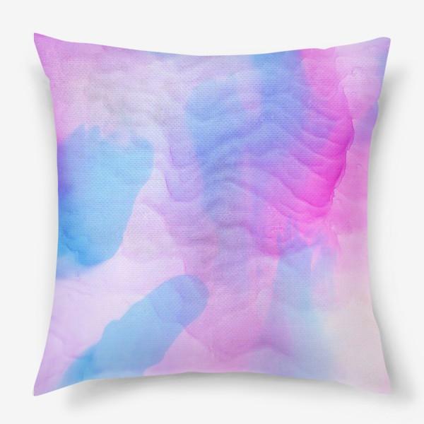 Подушка «Яркие красивые разводы красками»