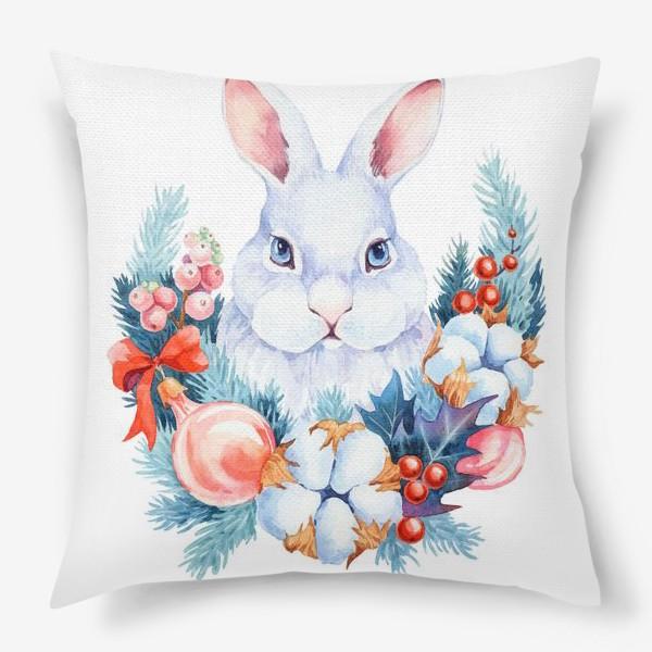 Подушка «Новогодний кролик»