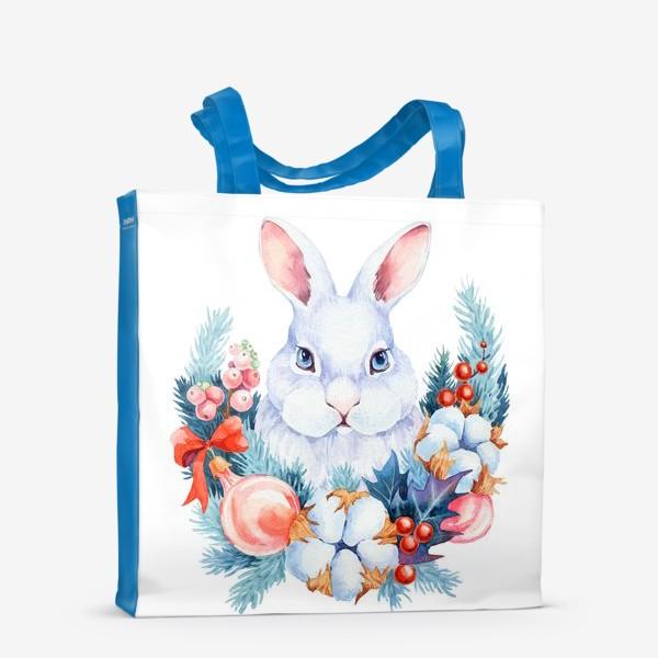 Сумка-шоппер «Новогодний кролик»