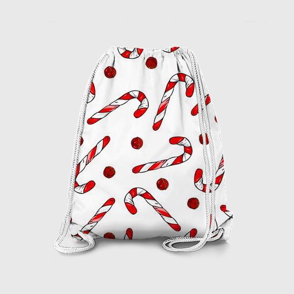 Рюкзак «сладкая трость и колокольчики»