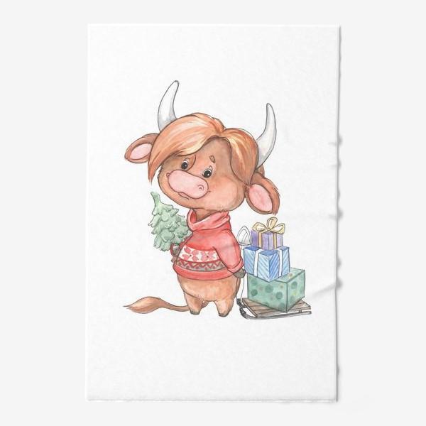 Полотенце «рыжий бычок»