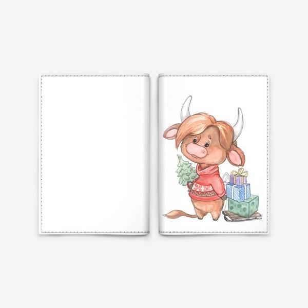 Обложка для паспорта «рыжий бычок»