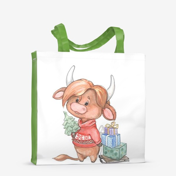 Сумка-шоппер «рыжий бычок»