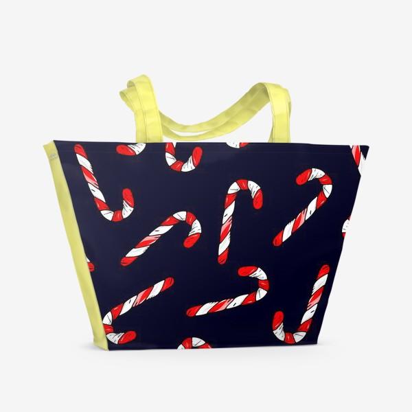Пляжная сумка «сладкая трость. рождественский конфеты»
