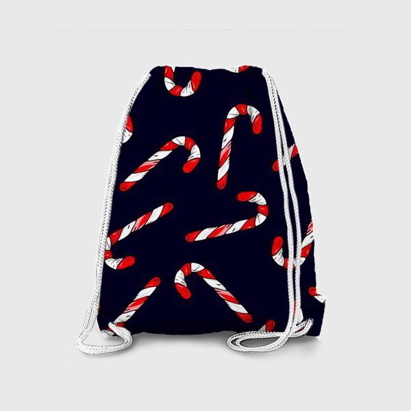 Рюкзак «сладкая трость. рождественский конфеты»
