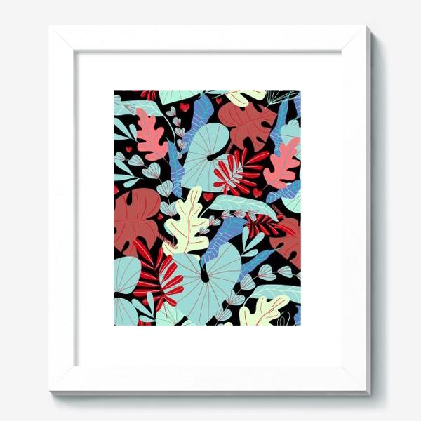 Картина «тропические листья»