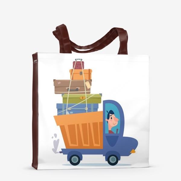 Сумка-шоппер «грузовик с чемоданами путешественника»