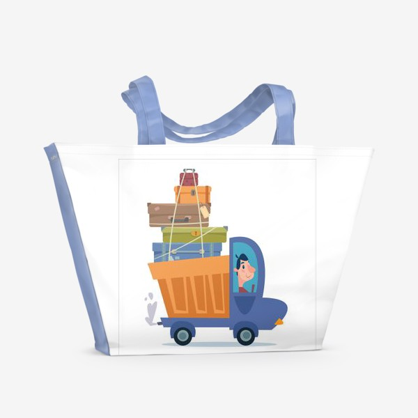 Пляжная сумка «грузовик с чемоданами путешественника»