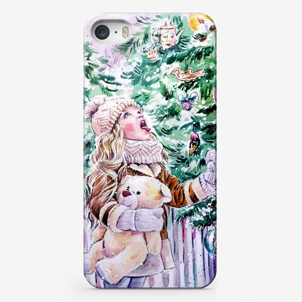 Чехол iPhone «девочка со снежинками»