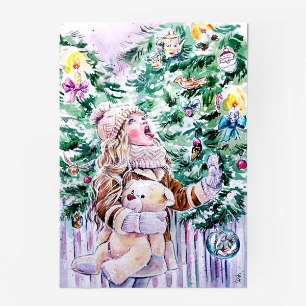 Постер «девочка со снежинками»
