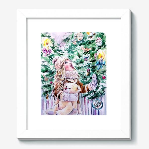 Картина «девочка со снежинками»