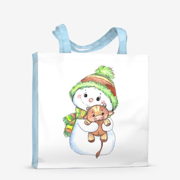 Сумка-шоппер «снеговичок с быком»