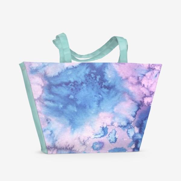 Пляжная сумка «акварельное безумие»