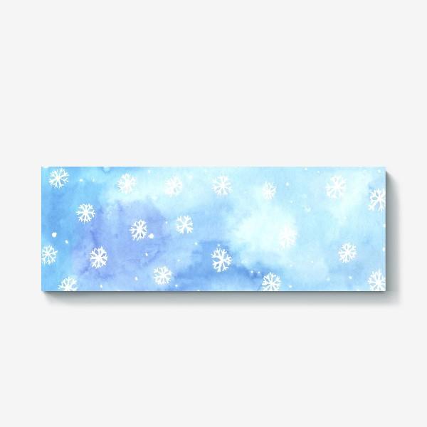 Холст «снежный паттерн»