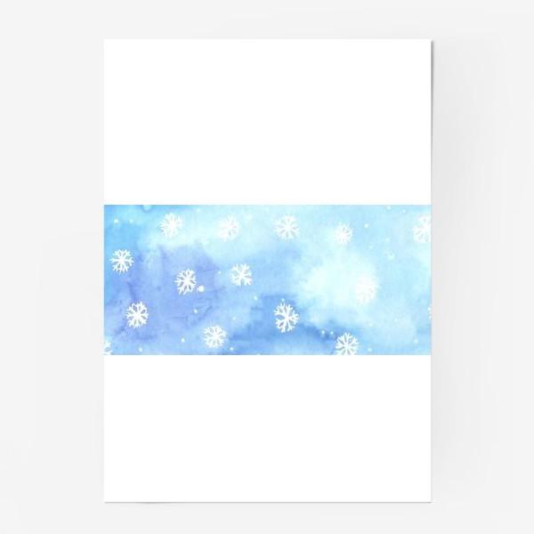 Постер «снежный паттерн»