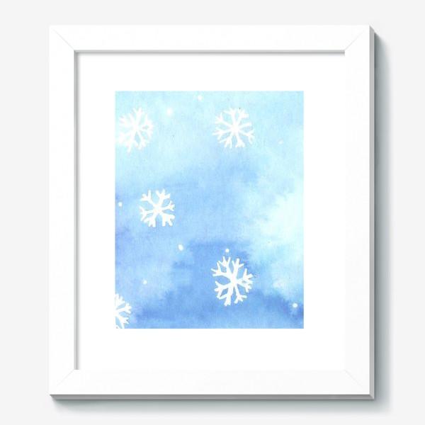 Картина «снежный паттерн»