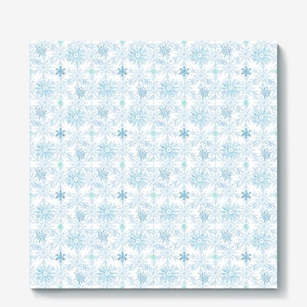 Холст «Голубые снежинки»