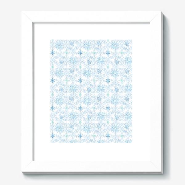 Картина «Голубые снежинки»