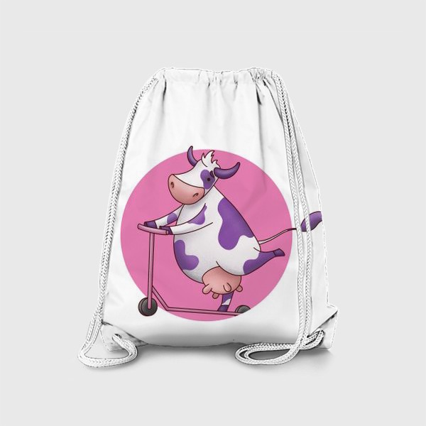 Рюкзак «корова на самокате»