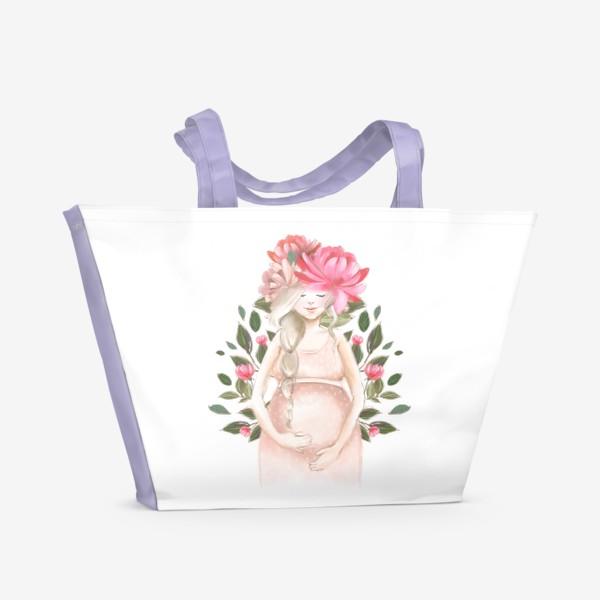 Пляжная сумка «Беременность, ребенок»