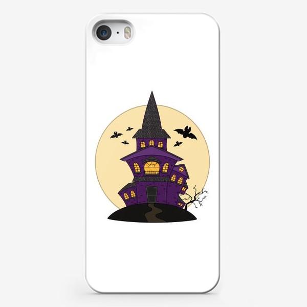 Чехол iPhone «страшный дом для хеллоуина»