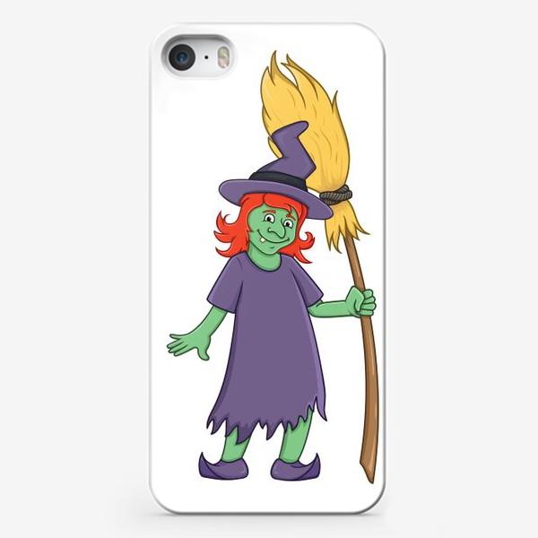 Чехол iPhone «милая мультяшная ведьма»