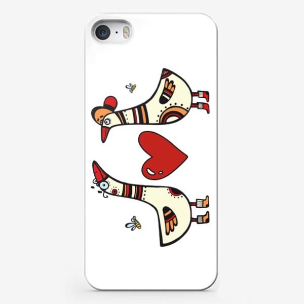 Чехол iPhone «два веселых гуся»