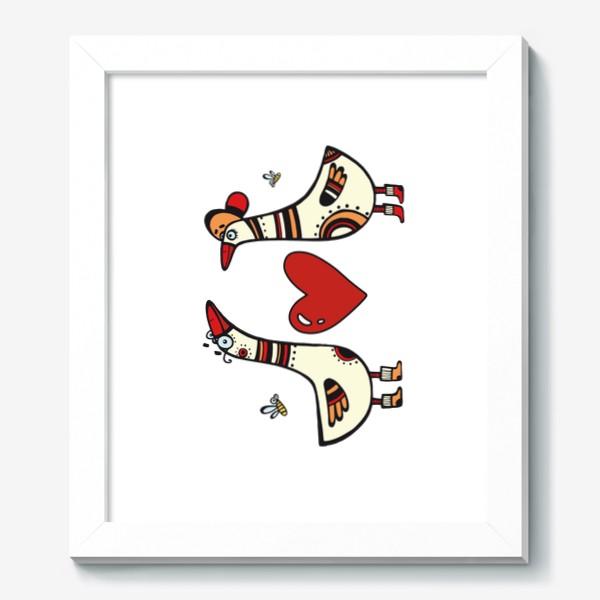Картина «два веселых гуся»