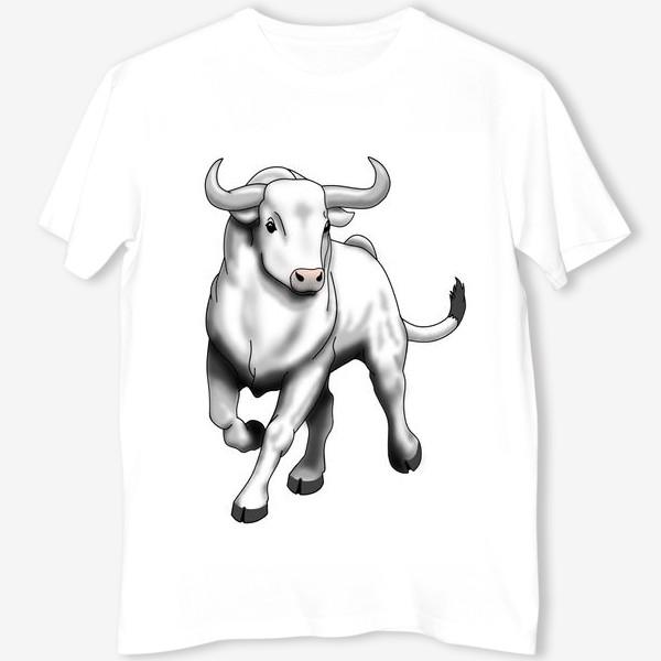 Футболка «Белый бык»