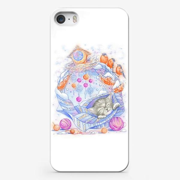 Чехол iPhone «Колыбельная для котенка»