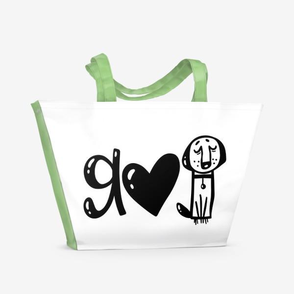 Пляжная сумка «я люблю животных»